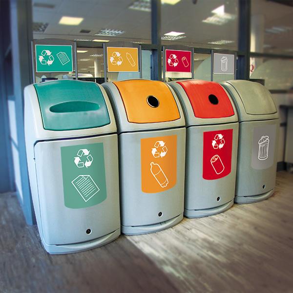 NEXUS 140™ cestini per interni di differenti colori per raccolta differenziata
