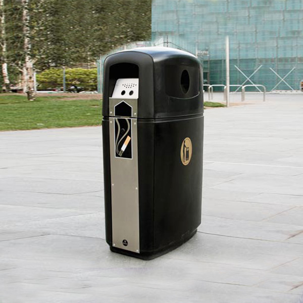 Integro cestino arredo urbano per esterni con imboccatura ridotta