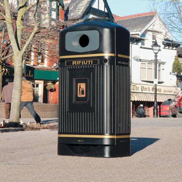 STREAMLINE JUBILEE™ cestino arredo urbano per esterno con imboccatura tonda